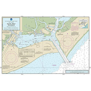 "PS Nautical Placemat Cape May Harbor 12""x18"""