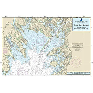 "PS Nautical Placemat Cape Cod Bay 12""X18"""