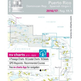 NP NV Charts Region 11.1 Puerto Rico, Dominican Republic to Spanish Virgin Islands