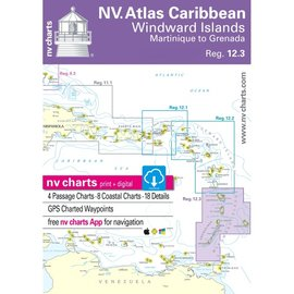 NP NV Charts Region 12.3 Windward Islands, Martinique to Grenada,  2018/19