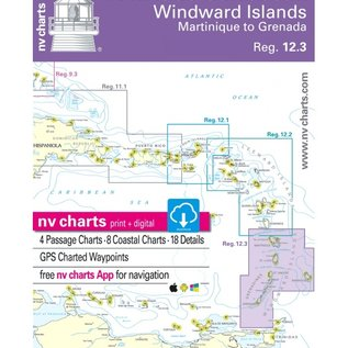 NP NV Charts Windward Islands, Martinique to Grenada, Reg. 12.3 ed 2018/19
