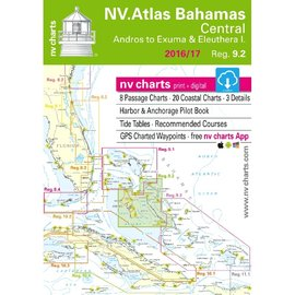 NP NV Charts Region 9.2 Bahamas Central , Andros to Exumas & Eleuthera Islands