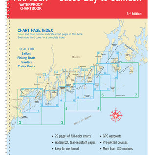 MTP Casco Bay to Camden, ME Waterproof Chartbook Maptech WPB220-3