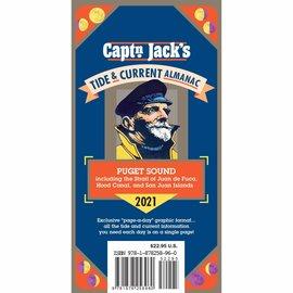 PRC Capt'n Jack's Tide & Current Almanac - Puget Sound 2021