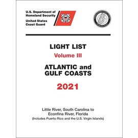 GPO USCG Light List 3 2021 Little River SC to Esconfina River FL