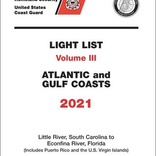 GPO USCG Light List 3 2021 Little River SC to Esconfina River FL