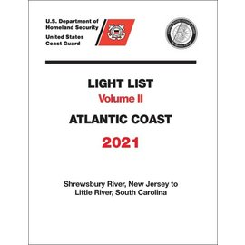 GPO USCG Light List 2 2021 Shrewsbury River NJ to Little River SC