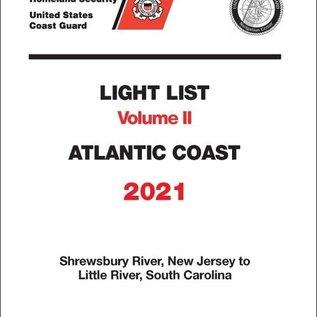 GPO USCG Light List 2 2021 Shrewsbury River NJ to Little River SC