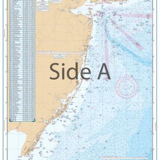 ISS Waterproof Charts New Jersey Coastal Fishing Chart 55F