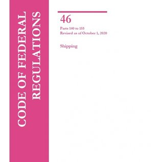 GPO CFR46 Volume 5 Parts 140-155 Shipping 2020