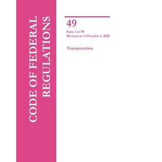 GPO CFR49 Volume 1 Parts 1-99 Transportation 2019