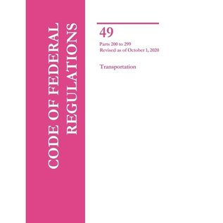GPO CFR49 Volume 4 Parts 200-299 Transportation 2020