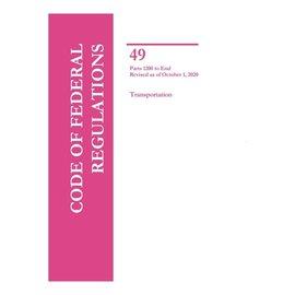 GPO CFR49 Volume 9 Parts 1200-End Transportation 2020