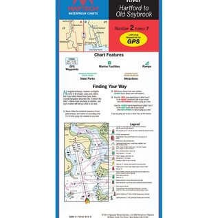 Connecticut River WPC002 7E by Maptech Waterproof Charts