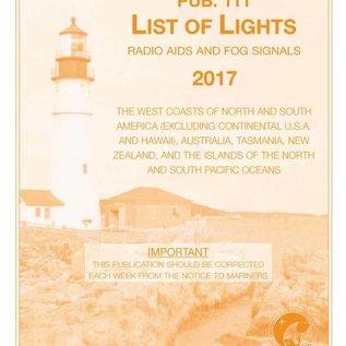 GPO List of Lights PUB111 2017 West Coast of North & South America