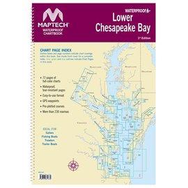 MTP Lower Chesapeake Bay Waterproof Chartbook by Maptech WPB0440-01