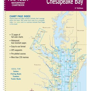 MTP Lower Chesapeake Bay Waterproof Chartbook by Maptech WPB0440-01