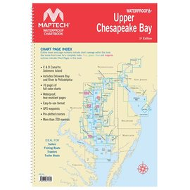 MTP Upper Chesapeake Bay Waterproof Chartbook by Maptech WPB0430-01