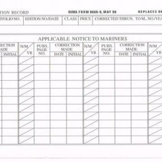 DMA Chart/Pub Correction Record 8660-9 (Qty 100)