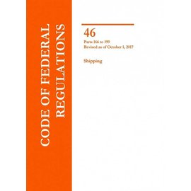 GPO CFR46 Volume 7 Parts 166 to 199 Shipping 2017