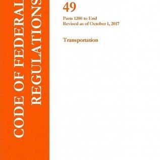 GPO CFR49 Volume 9 Parts 1200-End Transportation 2017
