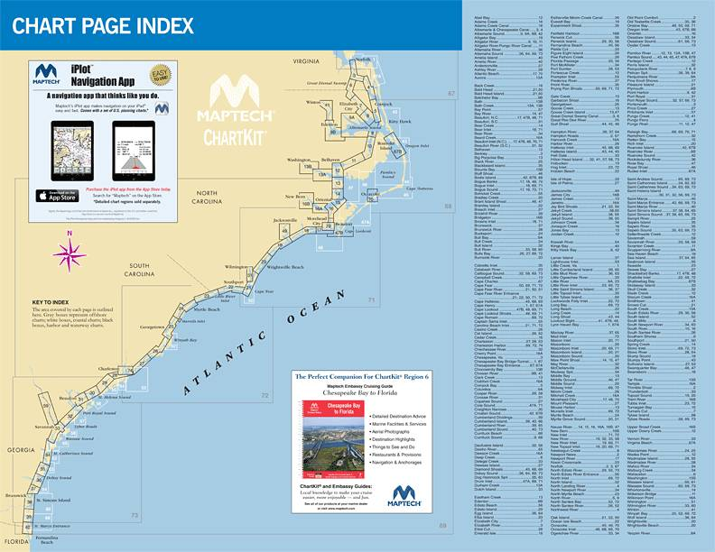 ChartKit 6 Norfolk, Va  to Florida and the Intracoastal Waterway by Maptech  14 ED