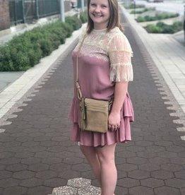 Rose Lace & Ruffle Dress