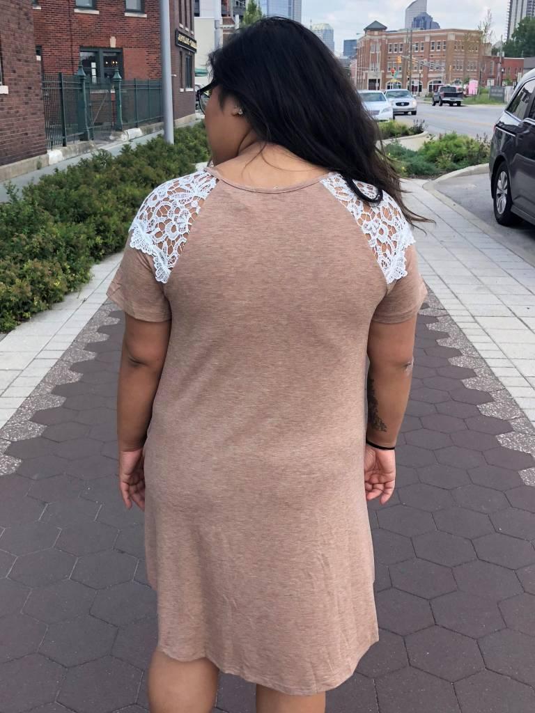 Tan Pocket Tee Dress