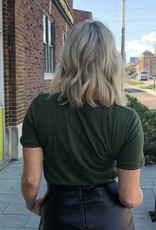 Fitted Army Green Tee
