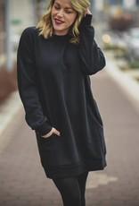Black Tunic Sweatshirt