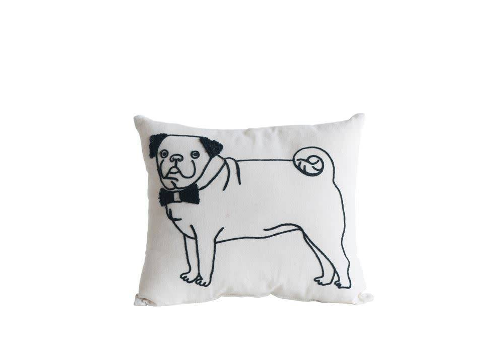 Cotton Pug Pillow