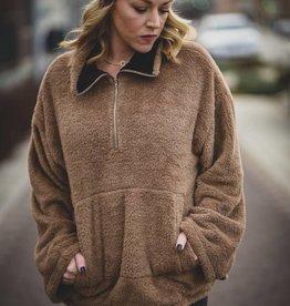 Fuzzy Mocha Pullover
