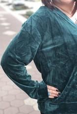 Hunter Green Velvet Top