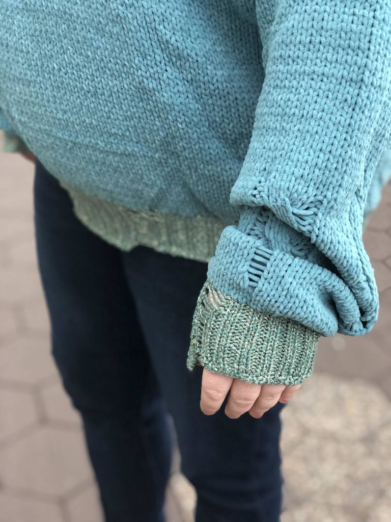 Seafoam Knit Hooded Pullover