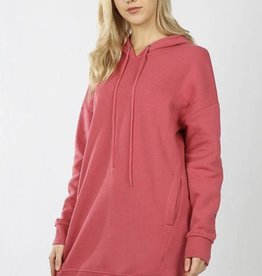 Rose Tunic Hooded Sweatshirt