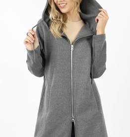 Two-Way Zipper Hooded Sweatshirt