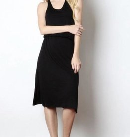 Black Elastic Racerback Dress