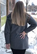 Two-Way Zipper Hooded Sweatshirt