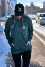 Army Green Tunic Hooded Sweatshirt