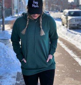 Army Green Tunic Hooded Sweatshirt