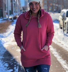 Rose Tunic Hooded Sweatshirt