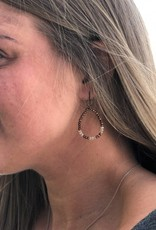 Copper Beaded Drop Earrings