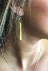 Copper Bar Earrings