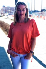 Coral Round Neck Tee