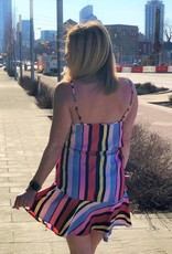 Colorblock Striped Cami Dress