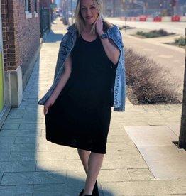 Black Elastic Racerback Dress