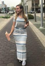Casual Striped Maxi