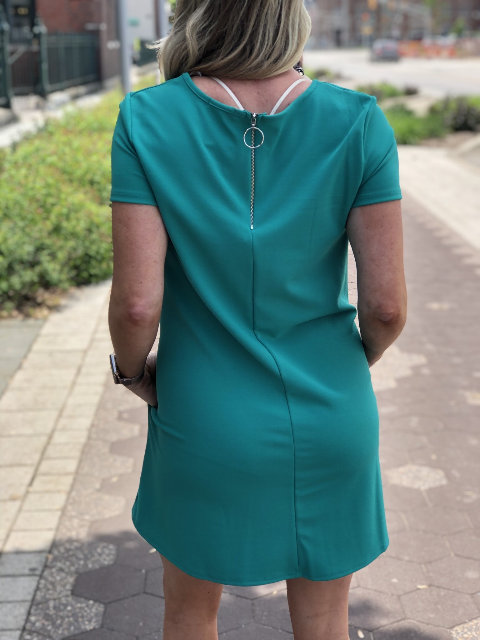 Green Flowy Pocket Dress