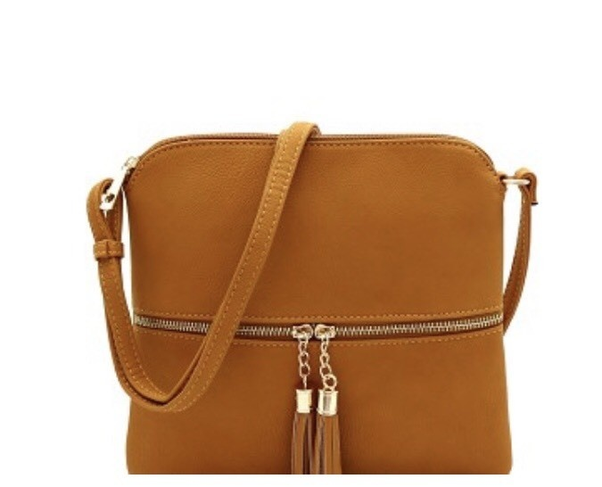 Mustard Tassel Accent Cross Body