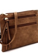 Multi Pocket Brown Crossbody